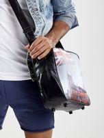 Czarna torba męska z ekoskóry z motywem Londynu                                  zdj.                                  2