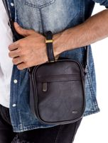 Czarna torba męska z kieszeniami na suwak                                  zdj.                                  1