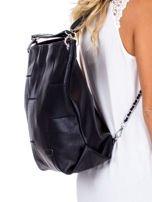 Czarna torba-plecak z odpinanymi szelkami                                  zdj.                                  2