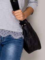 Czarna torba z błyszczącym modułem                                   zdj.                                  2