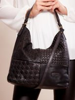 Czarna torba z motywem plecionki                                  zdj.                                  1