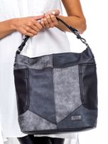 Czarna torba z przeszyciami                                  zdj.                                  2