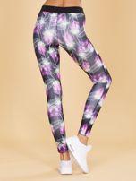 Czarne damskie legginsy z printem                                   zdj.                                  3