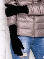 Czarne długie rękawiczki                                  zdj.                                  3