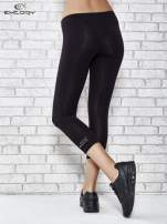 Czarne legginsy sportowe z patką z dżetów na dole                                  zdj.                                  3