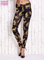 Czarne legginsy w gepardy                                  zdj.                                  1