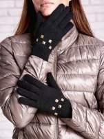 Czarne rękawiczki  z ćwiekami i ściągaczem                                                                          zdj.                                                                         1