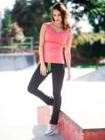 Czarne termoaktywne spodnie do biegania o prostej nogawce z fluozieloną wstawką ♦ Performance RUN                                                                          zdj.                                                                         8