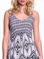 Czarno-biała sukienka w azteckie wzory                                  zdj.                                  4