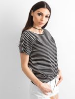 Czarno-biały t-shirt Morning                                  zdj.                                  3