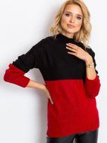 Czarno-czerwony sweter Taylor                                  zdj.                                  5