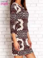 Czarno-różowa sukienka w geometryczne wzory                                  zdj.                                  3