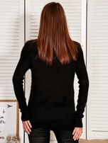 Czarny Sweter z dłuższym tyłem