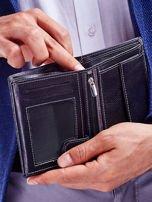 Czarny elegancki portfel dla mężczyzny z łączonych materiałów                                  zdj.                                  2
