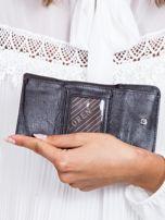 Czarny lakierowany portfel w motyle                                  zdj.                                  4