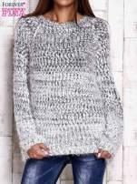Czarny melanżowy sweter long hair                                  zdj.                                  1