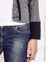 Czarny melanżowy sweter z otwartym dekoltem                                  zdj.                                  5