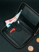 Czarny męski portfel ze skóry na suwak                                  zdj.                                  8