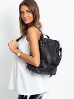 Czarny miękki plecak torba                                   zdj.                                  1
