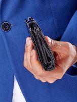 Czarny portfel męski na zatrzask z emblematem                                  zdj.                                  7