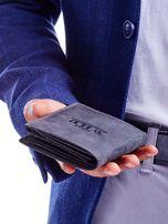 Czarny portfel męski przecierany                                  zdj.                                  1