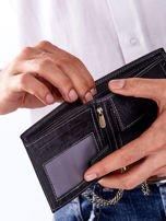 Czarny portfel męski skórzany z łańcuszkiem                                  zdj.                                  5