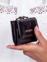 Czarny portfel w tłoczone motyle                                   zdj.                                  2