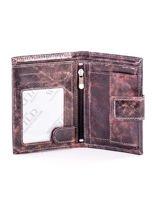 Czarny skórzany portfel dla mężczyzny z zapięciem                                  zdj.                                  4