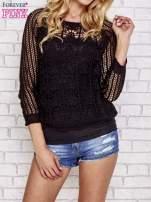 Czarny szydełkowy sweterek                                  zdj.                                  1