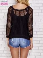 Czarny szydełkowy sweterek                                  zdj.                                  2