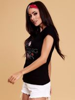 Czarny t-shirt damski NOTHING                                  zdj.                                  3