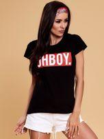 Czarny t-shirt damski OH BOY                                  zdj.                                  1