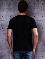 Czarny t-shirt męski                                   zdj.                                  2