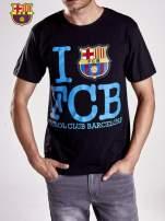Czarny t-shirt męski FC BARCELONA                                  zdj.                                  6