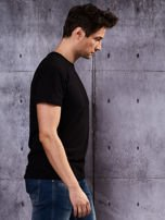 Czarny t-shirt męski basic                                  zdj.                                  3