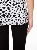 Czarny t-shirt z dżetami i tyłem w cętki                                                                          zdj.                                                                         9