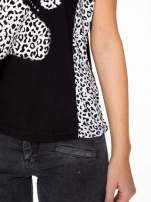 Czarny t-shirt z motywem pantery