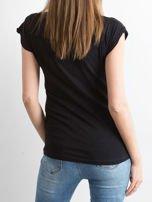 FUNK'N'SOUL Czarny t-shirt z nadrukiem                                  zdj.                                  2