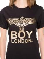 Czarny t-shirt ze złotym nadrukiem orła i napisem BOY LONDON                                                                          zdj.                                                                         6