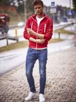 Czerwona bluza męska z kieszeniami na suwak Funk n Soul                                  zdj.                                  11