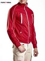 Czerwona bluza męska z kieszeniami na suwak Funk n Soul                                  zdj.                                  4