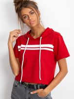 Czerwona bluza z kapturem                                  zdj.                                  5