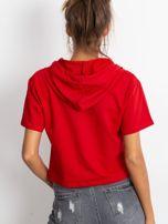 Czerwona bluza z kapturem                                  zdj.                                  2