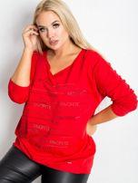 Czerwona bluzka plus size Shay                                  zdj.                                  1