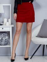 Czerwona dzianinowa spódnica mini                                  zdj.                                  1
