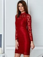Czerwona elegancka koronkowa sukienka                                  zdj.                                  3