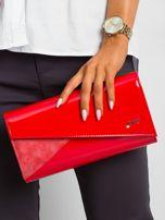 Czerwona kopertówka z asymetryczną klapką                                  zdj.                                  5