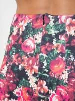 Czerwona kwiatowa mini pódnica skater                                  zdj.                                  10