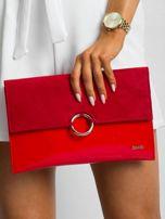 Czerwona lakierowana kopertówka                                  zdj.                                  4