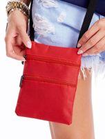 Czerwona materiałowa torba saszetka                                  zdj.                                  1